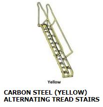 CARBON STEEL (YELLOW) ALTERNATING TREAD STAIRS