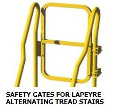 SAFETY GATES FOR LAPEYRE ALTERNATING TREAD STAIRS