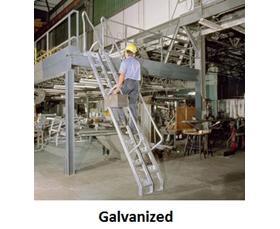 CARBON STEEL (GALVANIZED) ALTERNATING TREAD STAIRS